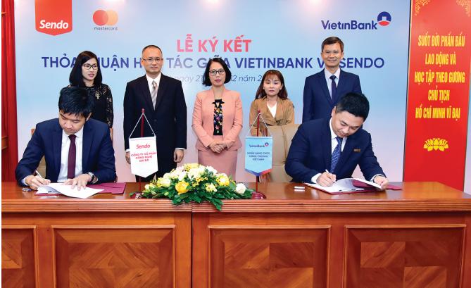 Lễ ký kết Thỏa thuận hợp tác giữa VietinBank và Sen Đỏ. (Ảnh minh họa)