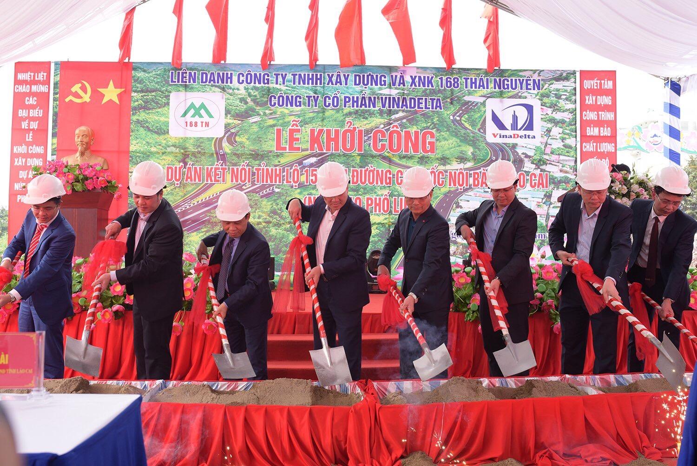 Khởi công dự án kết nối tỉnh lộ 152 với cao tốc Nội Bài - Lào Cai