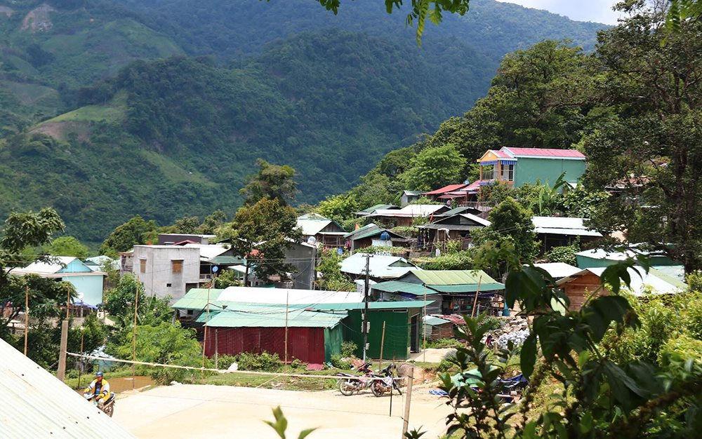 Diện mạo mới của xã Trà Linh, trước đây từng là rốn nghèo của huyện Nam Trà My, tỉnh Quảng Nam.