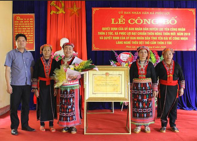 Thôn 2 Túc, xã Phúc Lợi được công nhận là Làng nghề thêu dệt thổ cẩm cấp tỉnh
