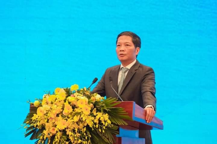Bộ trưởng Bộ công thương Trần Tuấn Anh phát biểu tại Hội nghị
