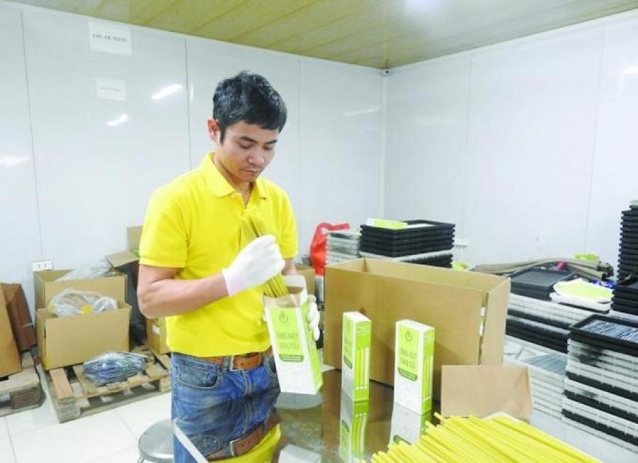 Ống hút rau củ được công nhận sản phẩm OCOP năm 2020.