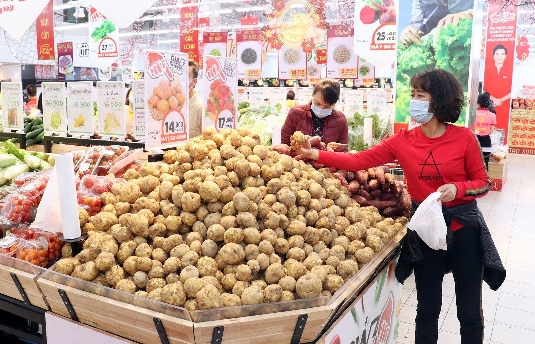 Các mặt hàng được đưa vào siêu thị, kết nối trực tiếp với người dân trên địa bàn tỉnh.