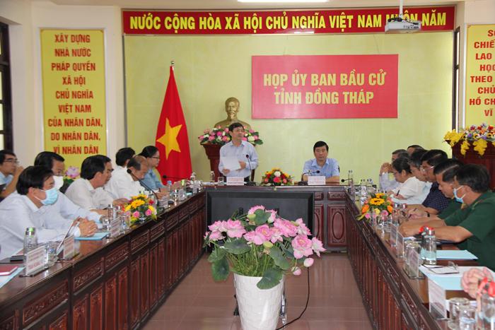 Ủy ban bầu cử tỉnh Đồng Tháp triển khai công tác tiếp nhận hồ sơ ứng cử