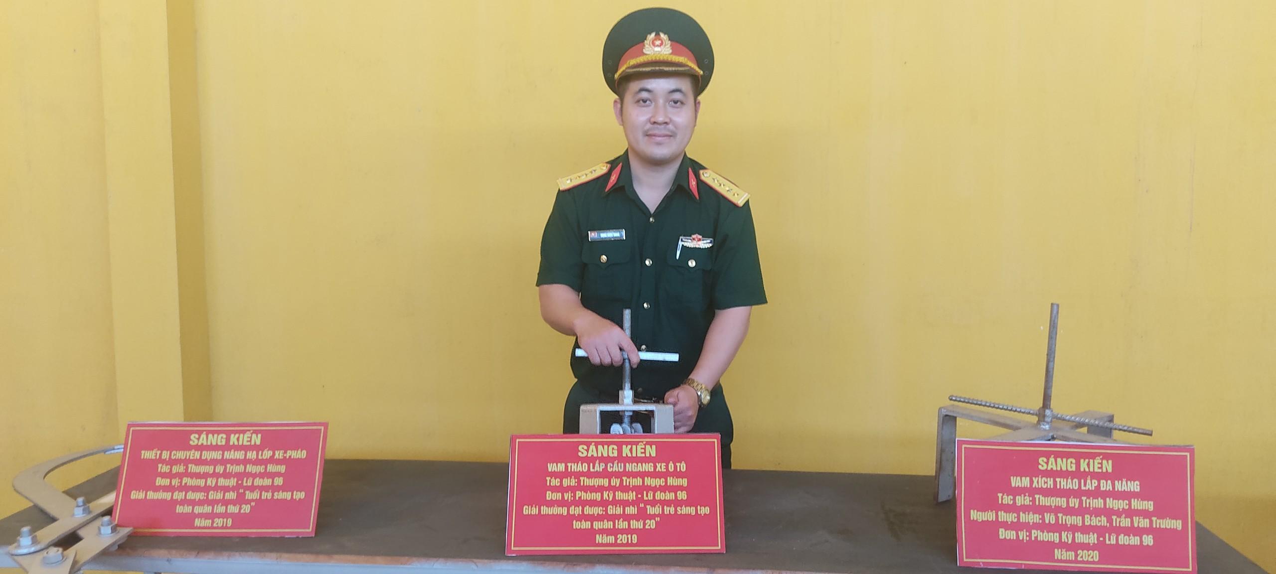 """Sáng kiến """"Vam tháo lắp cầu ngang xe ô tô"""" của Đại úy Trịnh Ngọc Hùng đạt giải Nhì tại Hội thi """"Tuổi trẻ sáng tạo toàn quân lần thứ 20"""""""