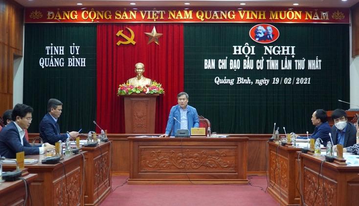 BCĐ bầu cử tỉnh Quảng Bình thường xuyên họp, chỉ đạo công tác triển khai bầu cử.(ảnh Diệu Cầm)