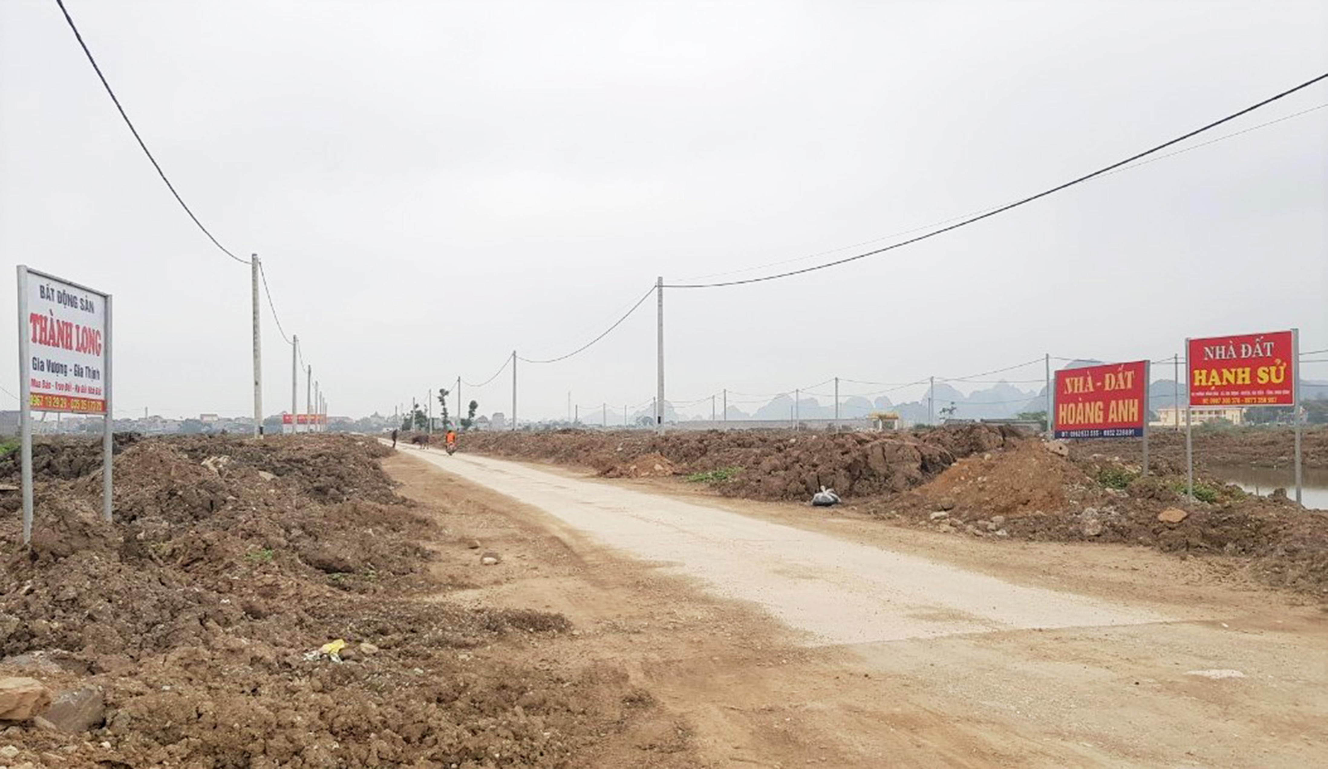 Giá đất khu xã Gia Thịnh, huyện Gia Viễn bất ngờ tăng nhanh.
