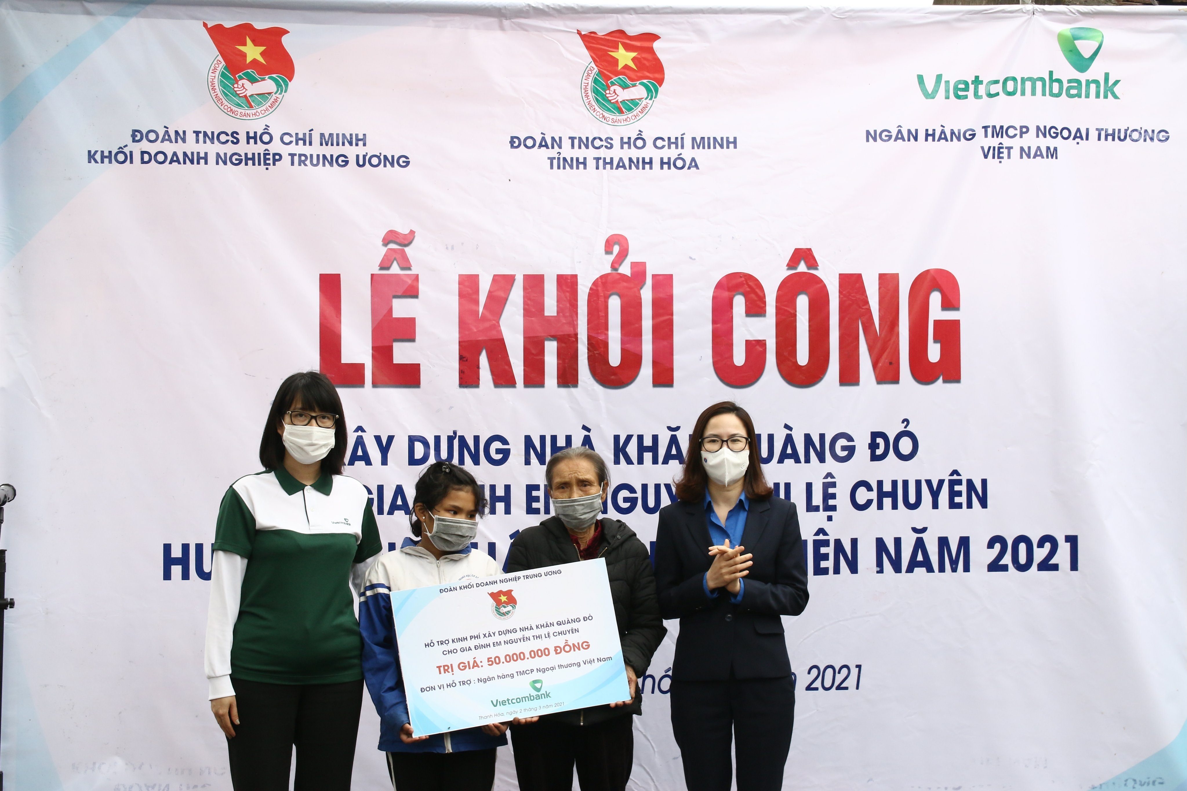 Một buổi lễ khởi công xây dựng nhà Khăn quàng đỏ trên địa bàn tỉnh Thanh Hóa