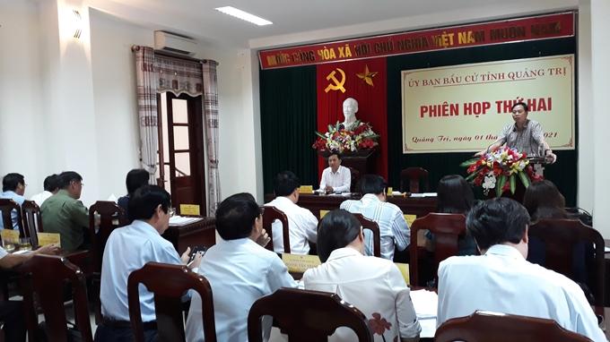 Ủy ban bầu cử Quảng Trị tổ chức họp phiên thứ 2 để chỉ đạo và triển khai công tác bầu cử