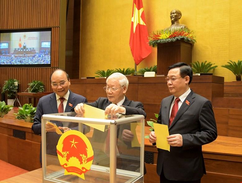 Các đồng chí Lãnh đạo bầu Chủ tịch nước