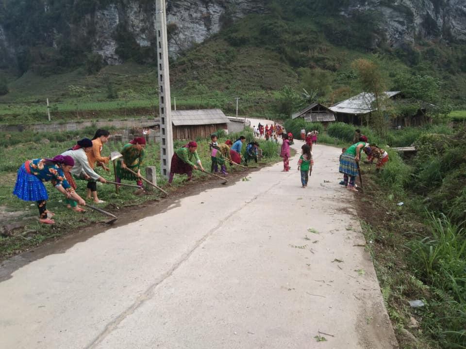 Hội viên phụ nữ Hà Giang tham gia bảo vệ môi trường