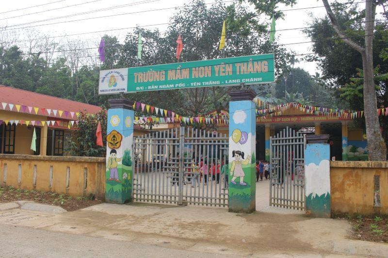 Trường Mầm non ở xã Yên Thắng, huyện miền núi Lang Chánh