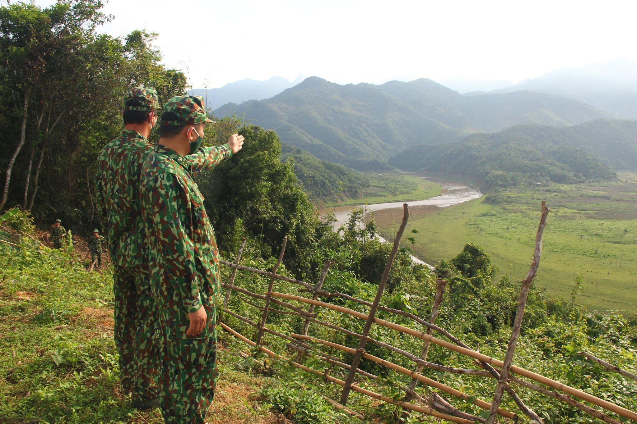 Thượng nguồn sông Chu, nơi các chiến sỹ chốt số 2 đang căng mình chống nạn vượt biên