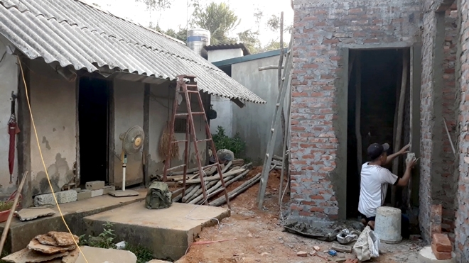 Những ngôi nhà vững chãi được xây dựng góp phần giúp gia đình Người có công an cư. (Ảnh minh họa)
