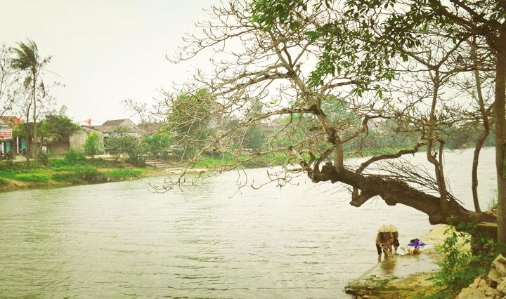 Dòng sông thơ mộng, đoạn qua làng An Xá, xã Lộc Thủy, huyện Lệ Thủy