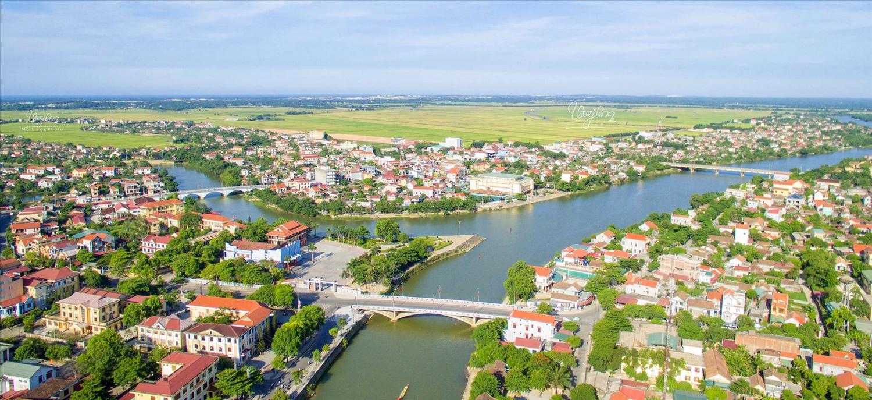 Sông Kiến Giang đoạn qua thị trấn Kiến Giang, huyện Lệ Thủy, tỉnh Quảng Bình