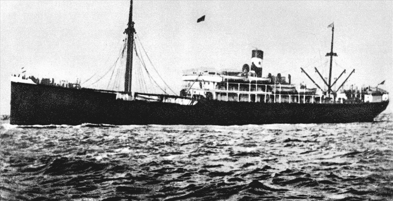 Tàu L'Admiral Latouche Tresvill đưa người thanh niên yêu nước Nguyễn Tất Thành ra đi tìm đường cứu nước từ bến Nhà Rồng, ngày 5/6/1911 (Ảnh tư liệu)