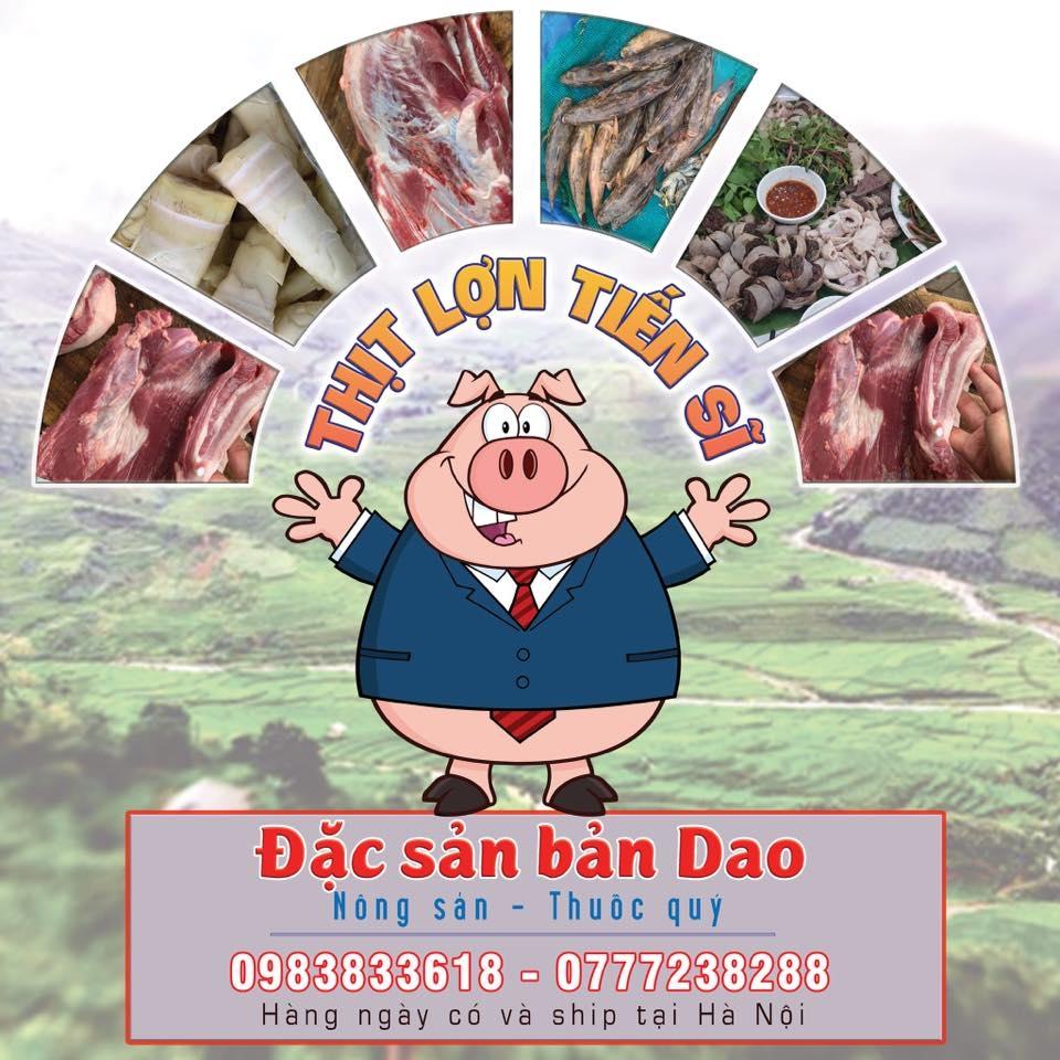 """Logo cửa hàng """"Thịt lợn Tiến sĩ"""" online của TS Bàn Tuấn Năng"""