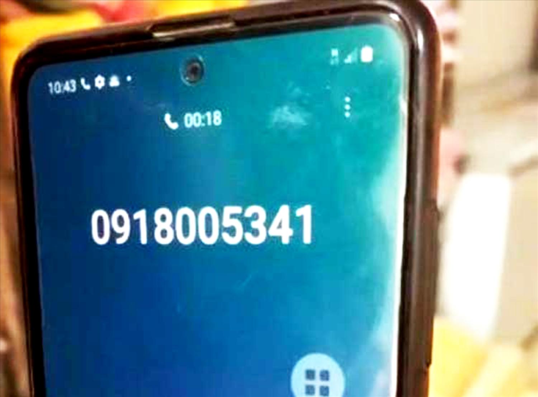 Số điện thoại của đối tượng giả danh công an gọi cho chủ doanh nghiệp.