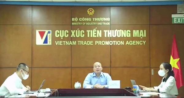 Ông Vũ Bá Phú, Cục trưởng Cục Xúc tiến thương mại (Bộ Công Thương) phát biểu tại Hội nghị