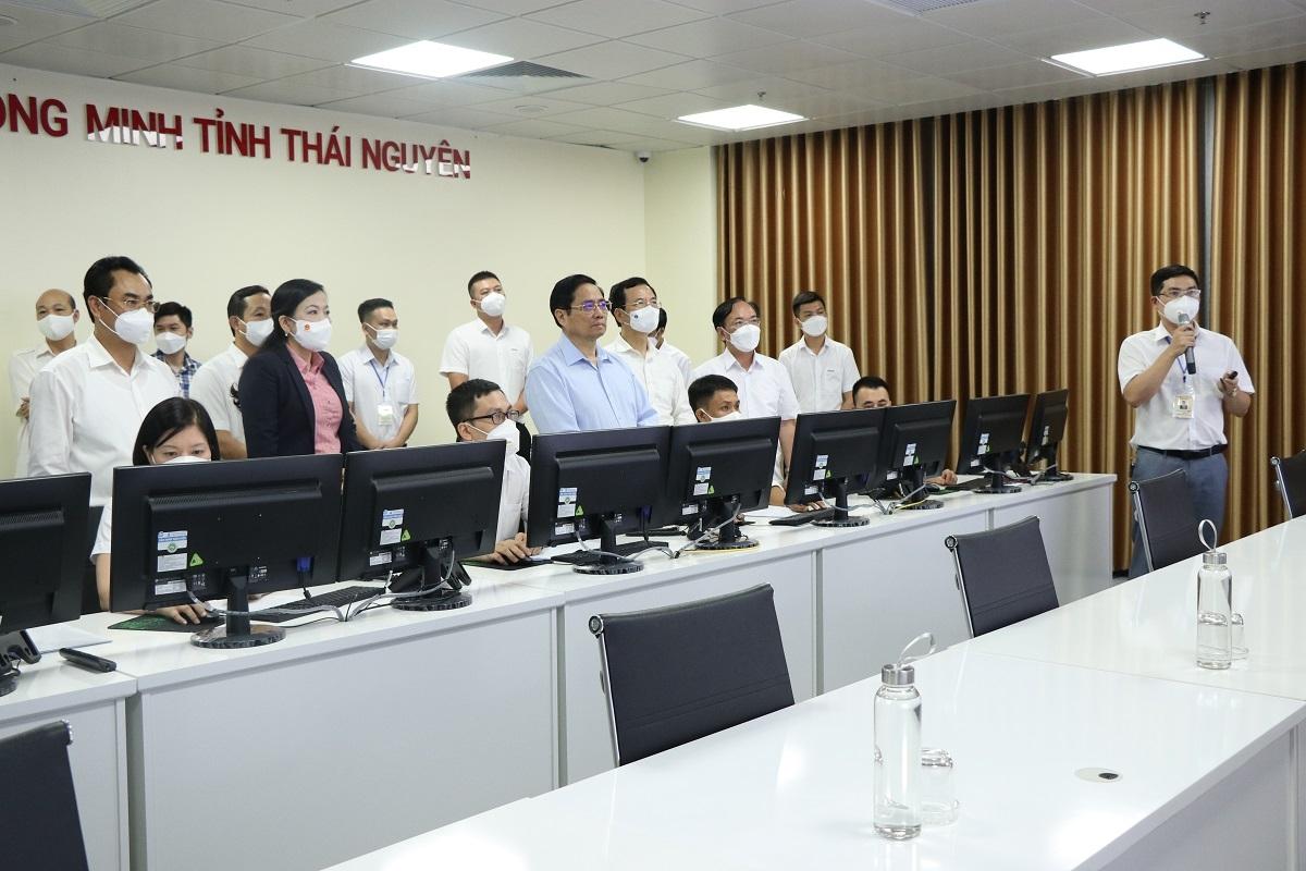 Thủ tướng Chính phủ Phạm Minh Chính đã đến thăm và làm việc tại IOC Thái Nguyên ngày 3/9/2021.