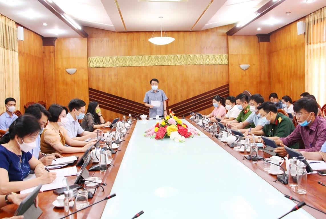 """Mô hình """"Phòng họp không giấy"""" được UBND TP. Thái Nguyên chính thức triển khai trong Phiên họp diễn ra ngày 23/6/2021."""