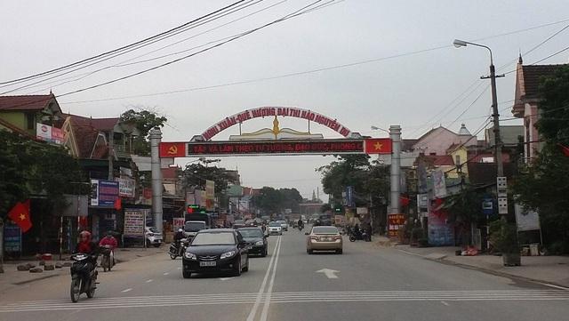 Đường vào thị trấn Tiên Điền, huyện Nghi Xuân, tỉnh Hà Tĩnh
