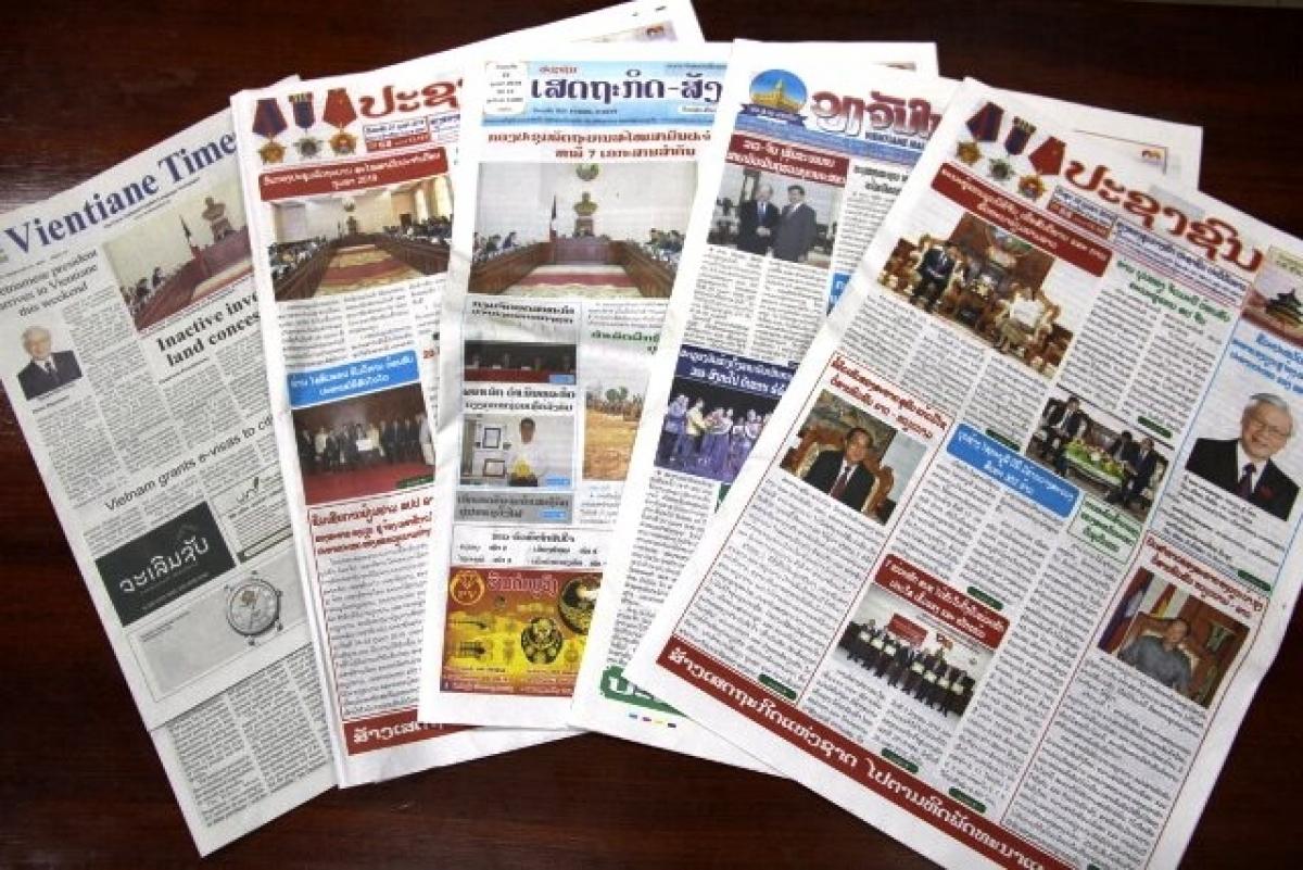 Những cơ quan truyền thông chủ lực của Lào (Ảnh: Vientiane Times)