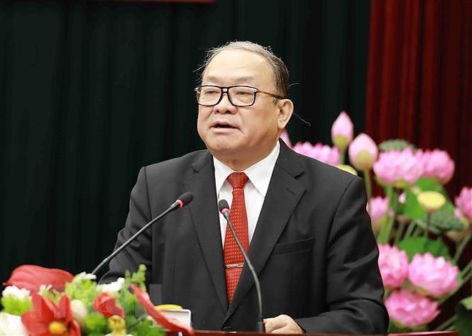 Ủy viên Trung ương Đảng, Chủ tịch Trung ương Hội Nông dân Việt Nam Thào Xuân Sùng. (Ảnh: Vũ Sinh/TTXVN)