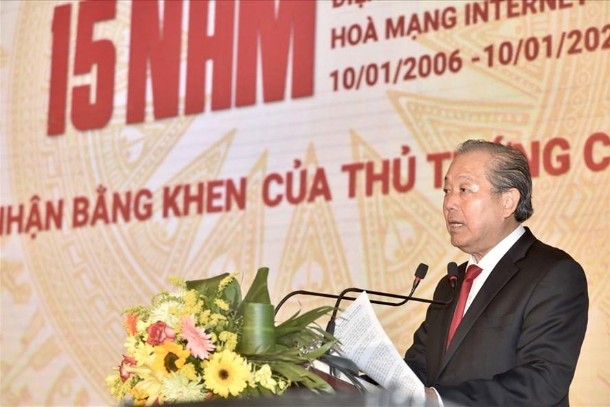 Phó Thủ tướng Thường trực Chính phủ Trương Hoà Bình phát biểu tại Lễ kỷ niệm. Ảnh Nhật BắcPhó Thủ tướng Thường trực Chính phủ Trương Hoà Bình phát biểu tại Lễ kỷ niệm. Ảnh Nhật Bắc