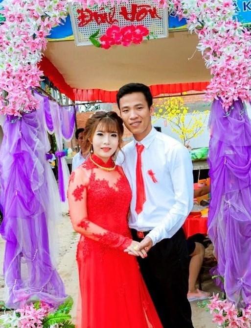 Trung úy Bùi Trung Kiên trong ngày đính hôn (Ảnh do nhân vật cung cấp)