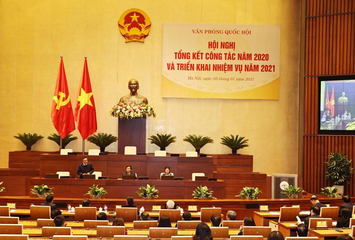 Hội nghị Cán bộ, công chức, viên chức và Tổng kết Công tác năm 2020, triển khai nhiệm vụ năm 2021 của Văn phòng Quốc hội.