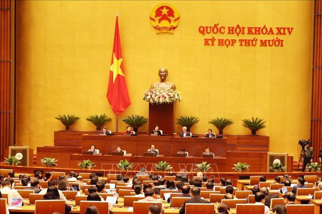 Quang cảnh phiên họp Quốc hội Kỳ họp thứ 10, Quốc hội khóa XIV. Ảnh: Doãn Tấn/TTXVN