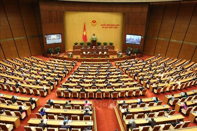 Khai mạc trọng thể Kỳ họp thứ 9, Quốc hội khóa XIV. Ảnh: TTXVN