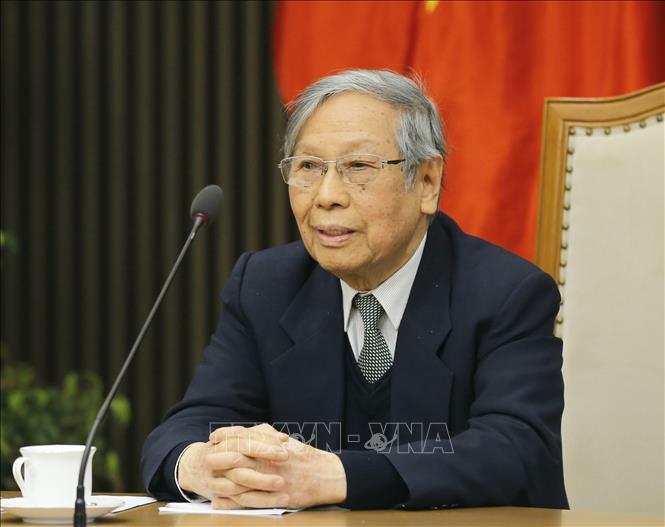 GS.TSKH Lưu Trần Tiêu, Chủ tịch Hội đồng di sản văn hóa Quốc gia phát biểu. Ảnh: Doãn Tấn/TTXVN