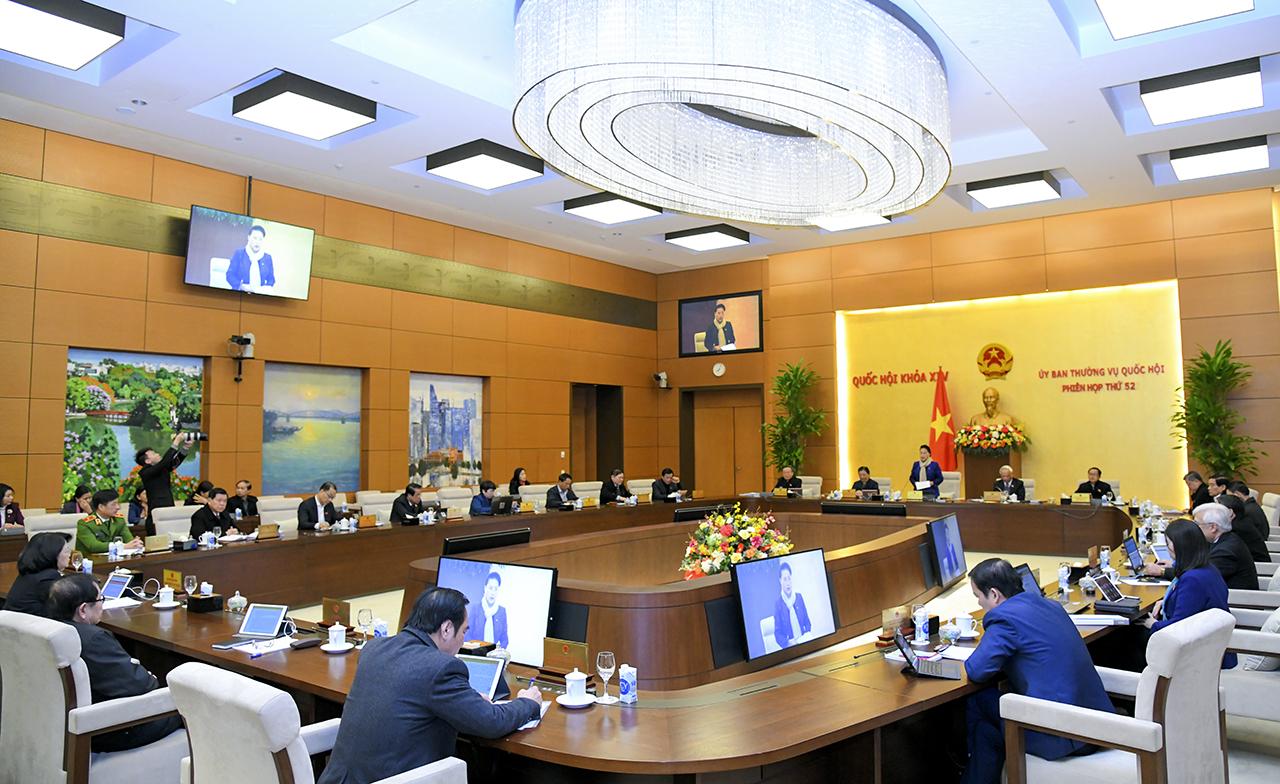 Phiên họp thứ 52 của Ủy ban Thường vụ Quốc hội.