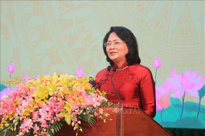 Phó Chủ tịch nước Đặng Thị Ngọc Thịnh. Ảnh: Phạm Minh Tuấn/TTXVN