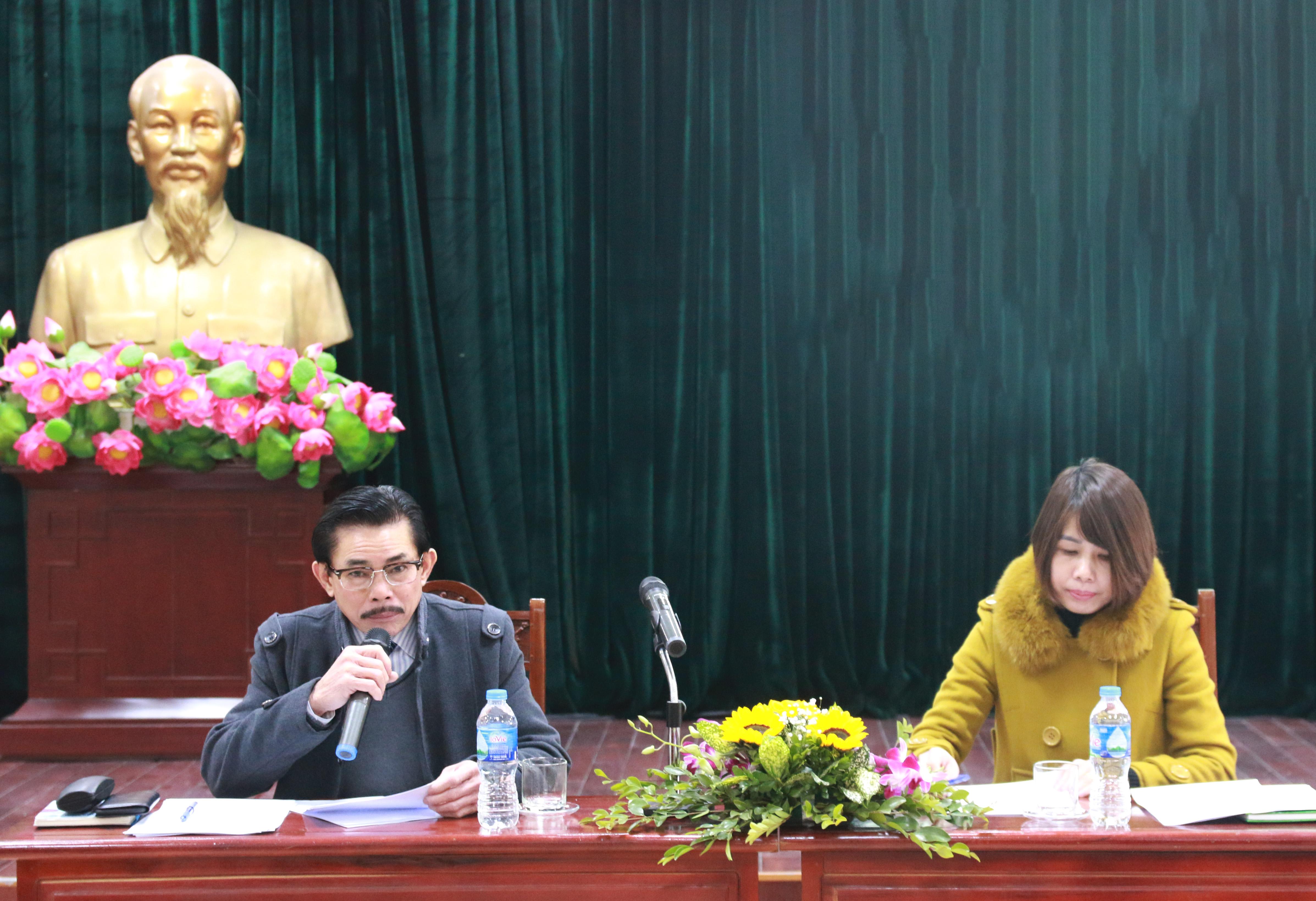 Ông Lê Công Bình, Bí thư Chi bộ, Tổng Biên tập Báo Dân tộc và Phát triển chủ trì Hội nghị
