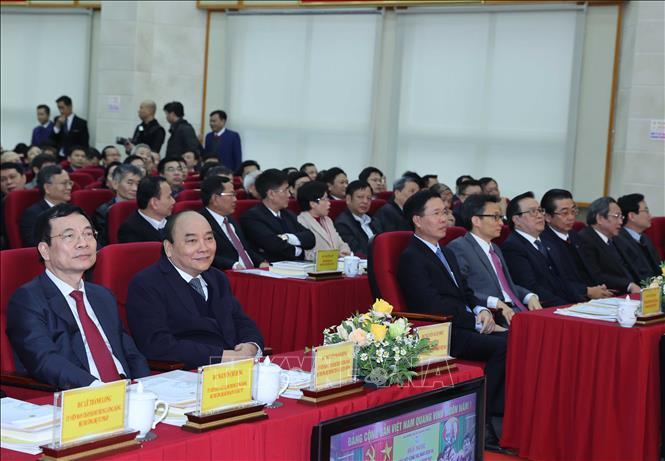 Thủ tướng Chính phủ Nguyễn Xuân Phúc dự hội nghị. Ảnh: Minh Quyết/'TTXVN
