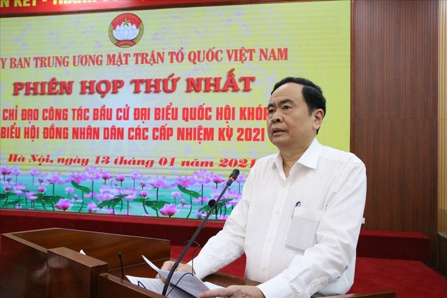 Ông Trần Thanh Mẫn phát biểu chỉ đạo tại phiên họp thứ nhất. Ảnh: Kim Anh