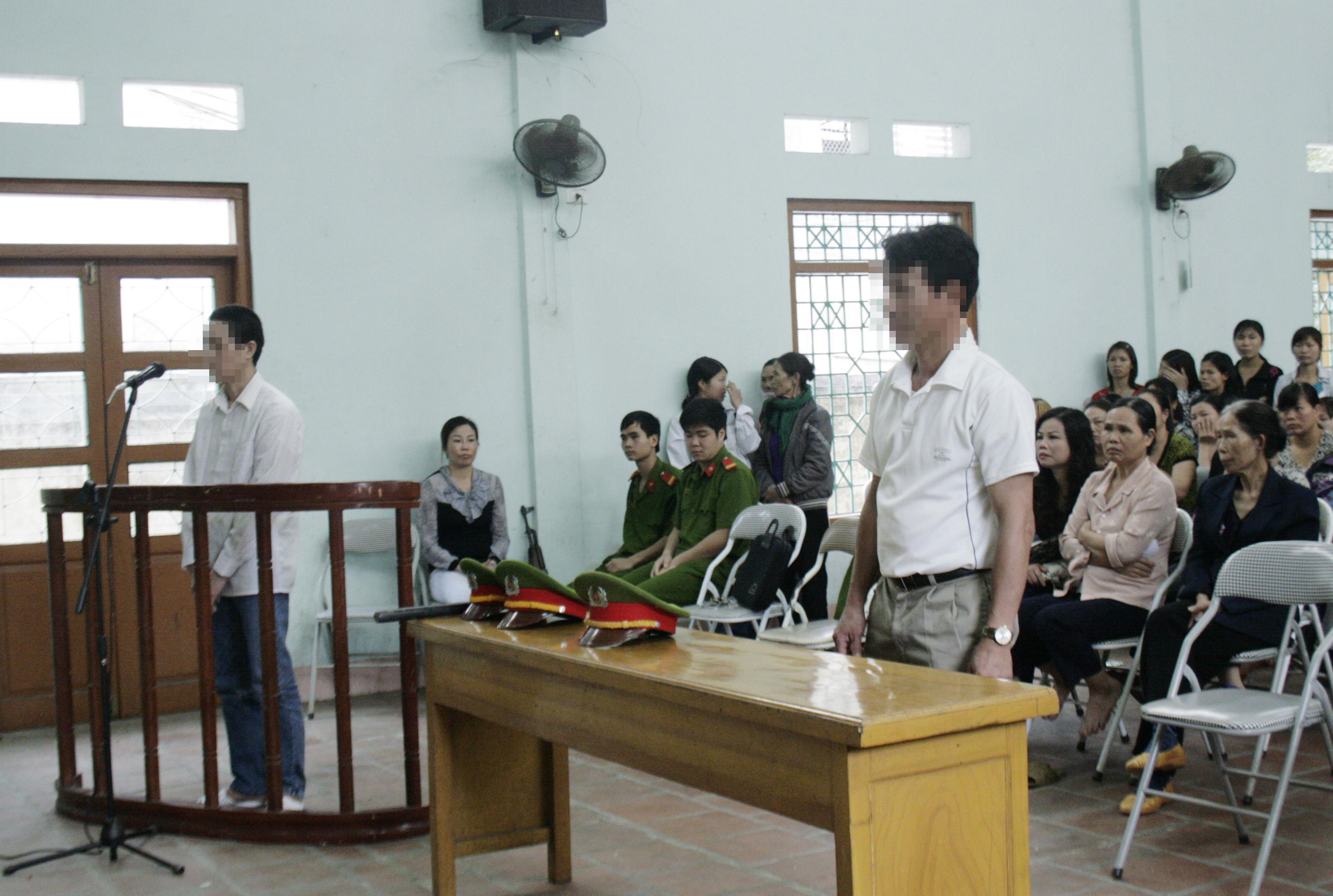 Quang cảnh phiên tòa XXLĐ ở Thái Nguyên