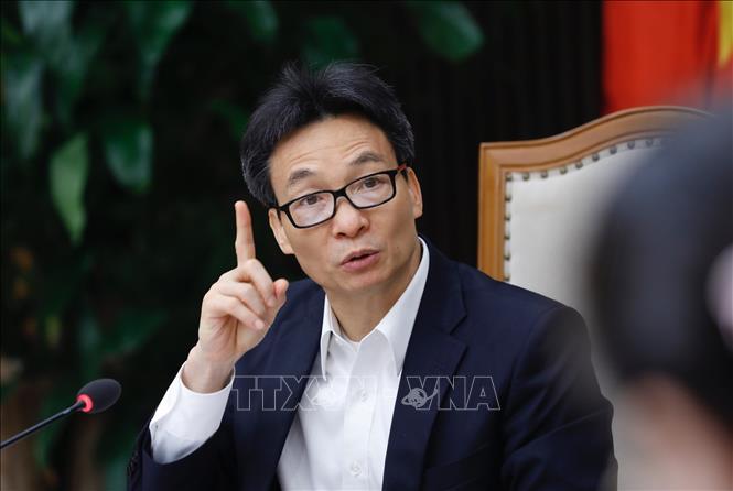 Phó Thủ tướng Vũ Đức Đam, Chủ tịch Uỷ ban Quốc gia về người cao tuổi Việt Nam chủ trì hội nghị. Ảnh: Dương Giang/TTXVN