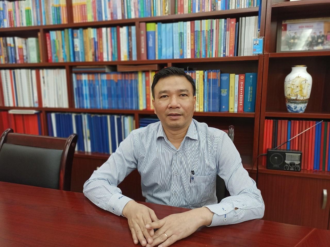 Chu Mạnh Hùng, Bí thư Đảng ủy Đại học Luật Hà Nội. (Ảnh: PV)