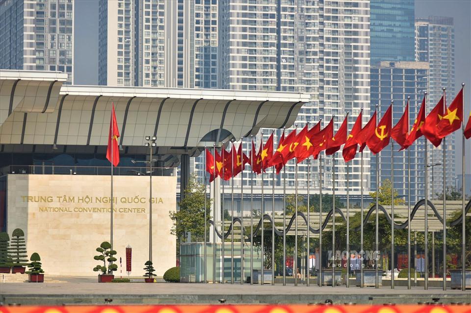 Trung tâm Hội nghị Quốc gia - nơi sẽ diễn ra Đại hội lần thứ XIII của Đảng