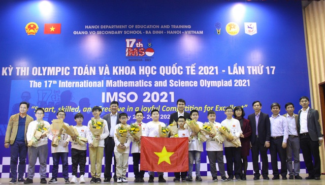 Các thí sinh trong đội tuyển môn Toán học.