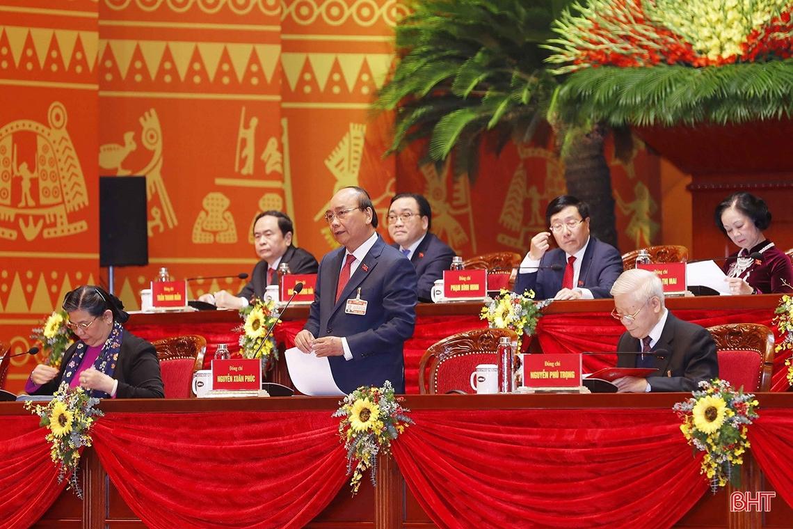 Thủ tướng Chính phủ Nguyễn Xuân Phúc điều hành phiên thảo luận sáng nay (27/1/2021)