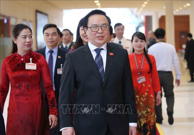 Đồng chí Hoàng Bình Quân, Ủy viên Trung ương Đảng, Trưởng ban Đối ngoại Trung ương đến dự phiên khai mạc Đại hội XIII của Đảng. Ảnh: TTXVN