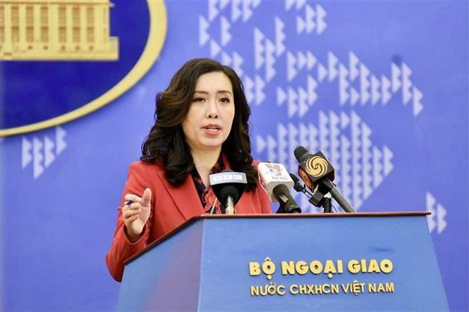Người phát ngôn Bộ Ngoại giao Việt Nam Lê Thị Thu Hằng. Ảnh: TTXVN phát