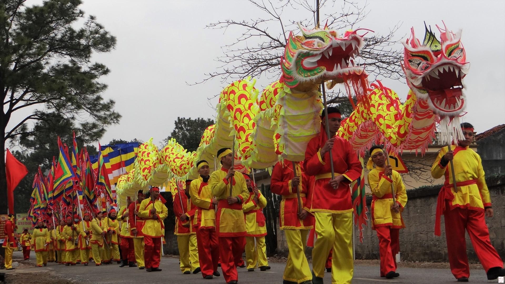 ễ rước nước trong khuôn khổ Lễ hội mùa xuân Côn Sơn – Kiếp Bạc.