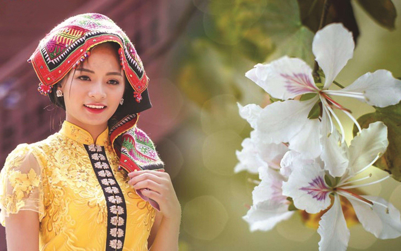 Những chiếc khăn Piêu sặc sỡ góp phần làm nên vẻ đẹp của phụ nữ Thái